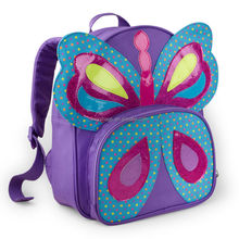 Latest 100% polyester canvas butterfly shape backpack bags for school girls