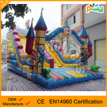 Christmas theme inflatable slide children indoor castle themed inflatable super slide