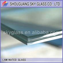 2-19mm processed glass (tempered glass / toughened glass / PVB laminated glass) with CE and ISO9001