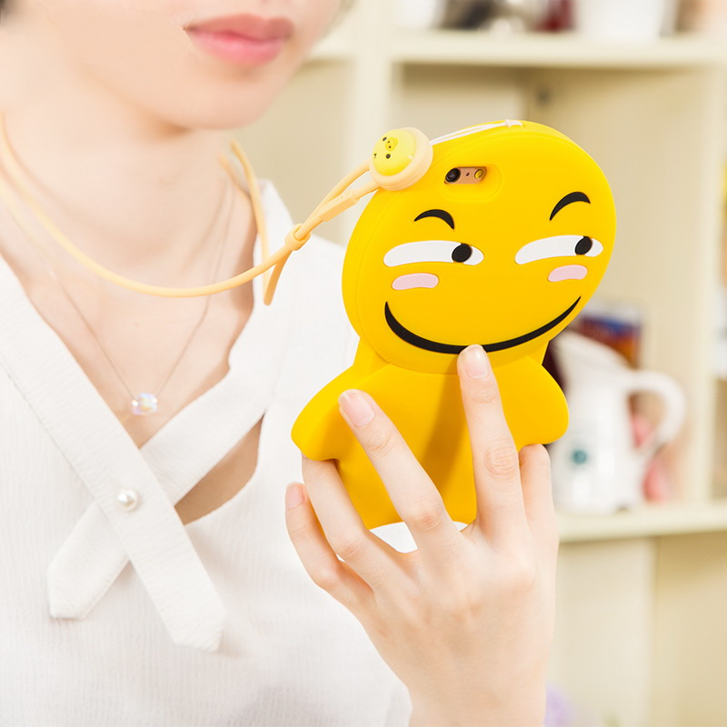 Wholesale Alibaba 3d Silicon Laughing Face Cartoon Emoji Mobile Phone Case/Phone Case Bag Emoji Design/Case for iPhone 6S