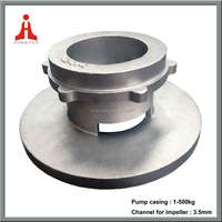 stainless steel CD3MCuN water pump casing cover manufacturer by investment casting