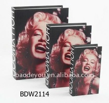 marilyn monroe wooden book box