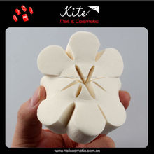 2015 Latex White Flower Shaped Latex Free Make Up Sponge