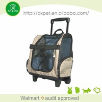 Factory supply washable durable dog carrier on wheels