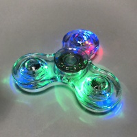 Clear Led Tri Fidget Hand Spinner