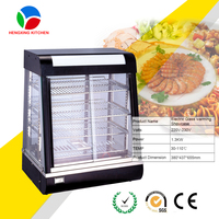 Commercial Electric Pie Warmer/Hot Food Display Showcase/Antifog Glass Stainless Steel Food Warmer