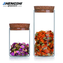 wholesale Custom Cheap Candy Storage Containers Food Borosilicate Glass Jars Wooden Lid