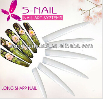 Long Sharp Nail tips Salon Stilettos tips French False Tips Acrylic Nail Art Decoration