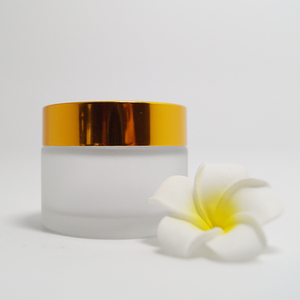 Round gold cosmetic packaging 15ml cosmetic glass jar for face cream collagen jars