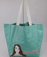 New style promotion customized color waterproof Dupont soft tyvek paper tote bag for shopping