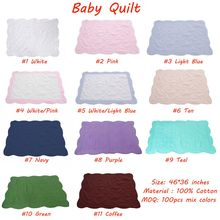 Wholesale Soft Customized Cotton Quilted Baby Quilt