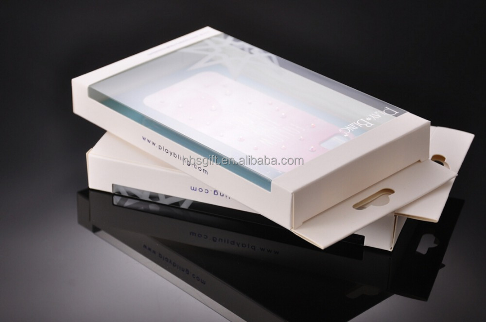 custom design Clear Plastic Cell Phone Case Packaging/Plastic Packaging Box For the light