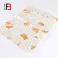 Printed Food Wrapping Greaseproof Paper Burger Wrapping