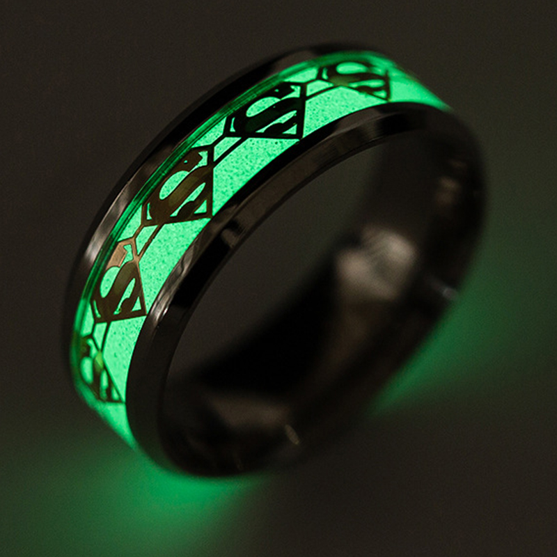 2017 design your own cool luminous stainless steel <strong>ring</strong> cheap wholesale men noctilucent 316l stainless steel <strong>rings</strong> for women