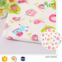 wholesale cheap custom elephant animal interlock printed felt fabric