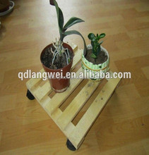 wooden flower moving dolly wood pallet cart