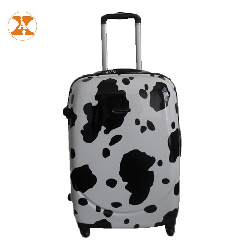 Factory Cheap Abs PC Black And White Luggage, Suitcases Luggage