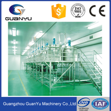 detergent making machine ,body cream production line ,washing liquid mixing tank