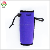 Best new design 3mm bule neoprene 500ml bottle drink cooler holder with strap
