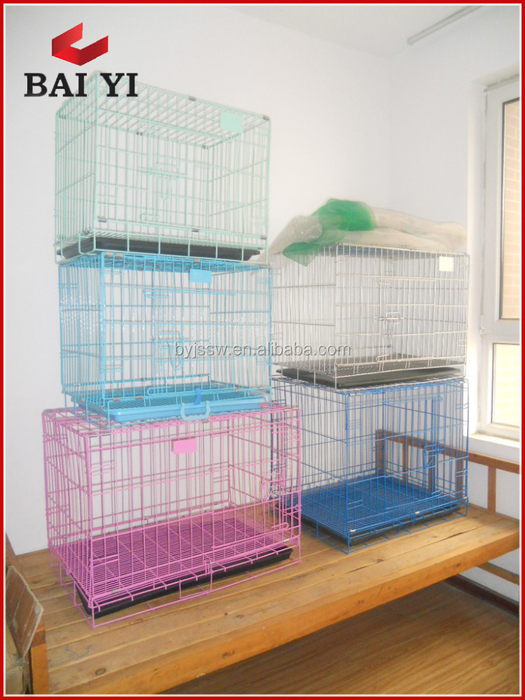 Galvanized dog carry-on outdoor cages for puppy