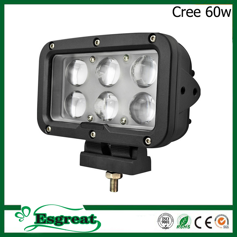 Best Quality UsCree 60w 6 inch Heavy Duty Led Work Lights Lamp For Trucks