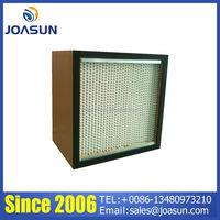 Manufacture Wooden frame Deep-Pleat Box type HEPA Air Filter