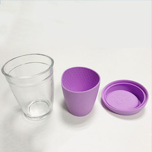 Customized Colorful Eco-friendly Heat-resistant And Anti-slip A Set Of Silicone Rubber Cup Holder Sleeve and Lid