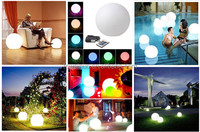 illuminate waterproof LED ball light for swimming pool/home/bar/hotel/garden decoration with remote control