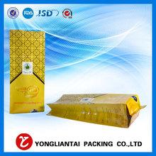 Food grade coffee plastic packaging bag coffee bean side gusset aluminum foil packaging bag with valve packaging manufacturer