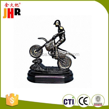 Polyresin Cycling Figurine, Motorcycle Trophy