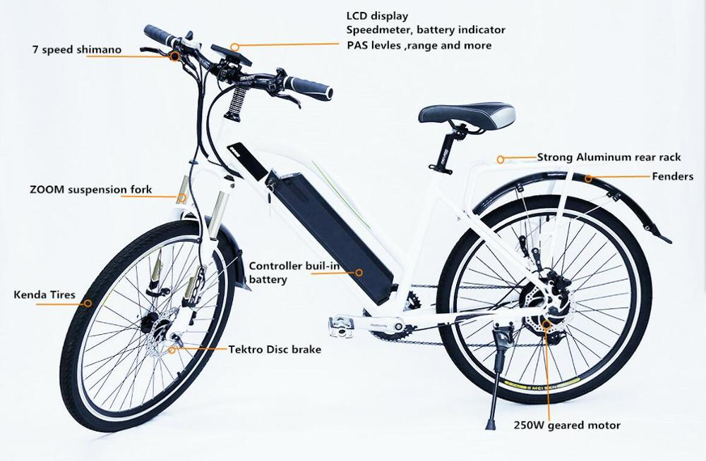 factory direct 36v 250w 350w geared motor city electric bicycle With hidden lithium battery Professional Technical Support