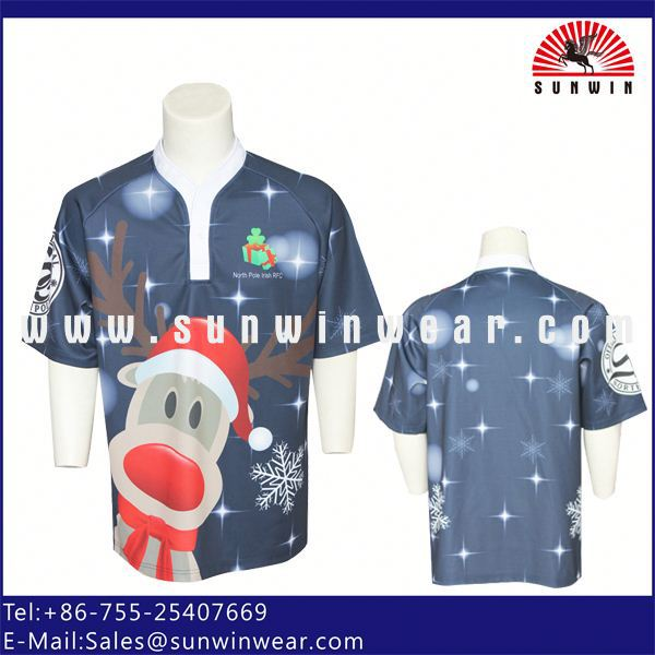 dye sublimation rugby shirt/youth rugby league matches jersey