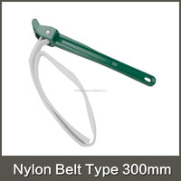Nylon belt type oil filter wrench for most cars and light New arrival 12 inch adjustable non-slip aluminium handle