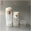 Empty double wall plastic cylinder airless containers for skin care