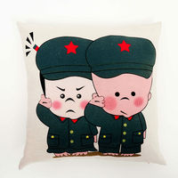 New Digital Printed Europe style Cushion Cover, cotton fabric Home Decorative Square Cushion