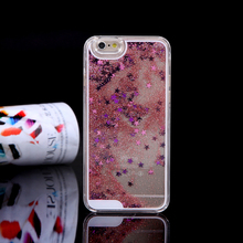 Wholesale cheap price liquid cell phone case, for iPhone 6s, glitter liquid swiming rubber duck phone case for iphone 6 plus