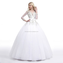 2017 white color winter long sleeve lace fishtail plus size wedding dress patterns