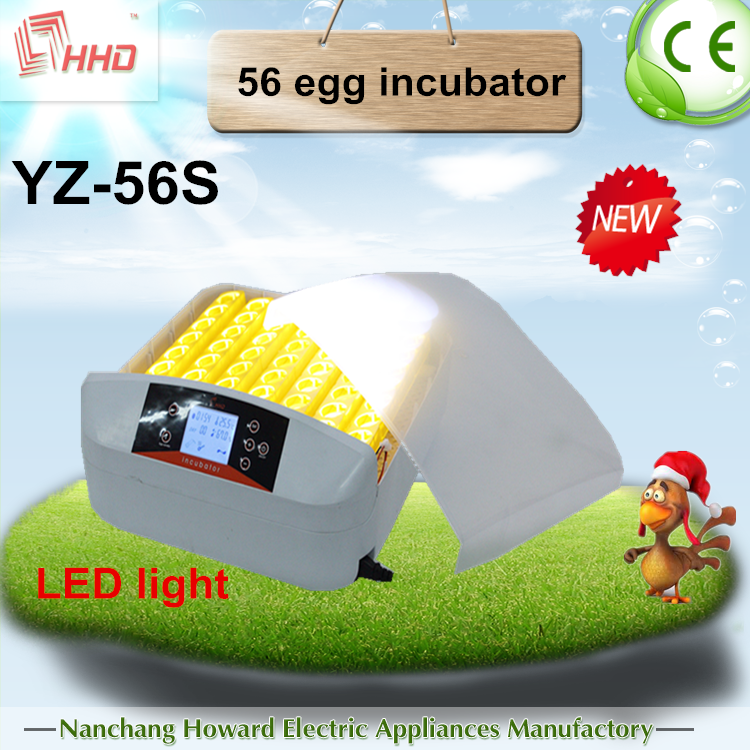 High hatching rate chicken incubators for hatching eggs YZ-56S