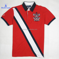 woven collar red golf polo shirt for men from online shopping