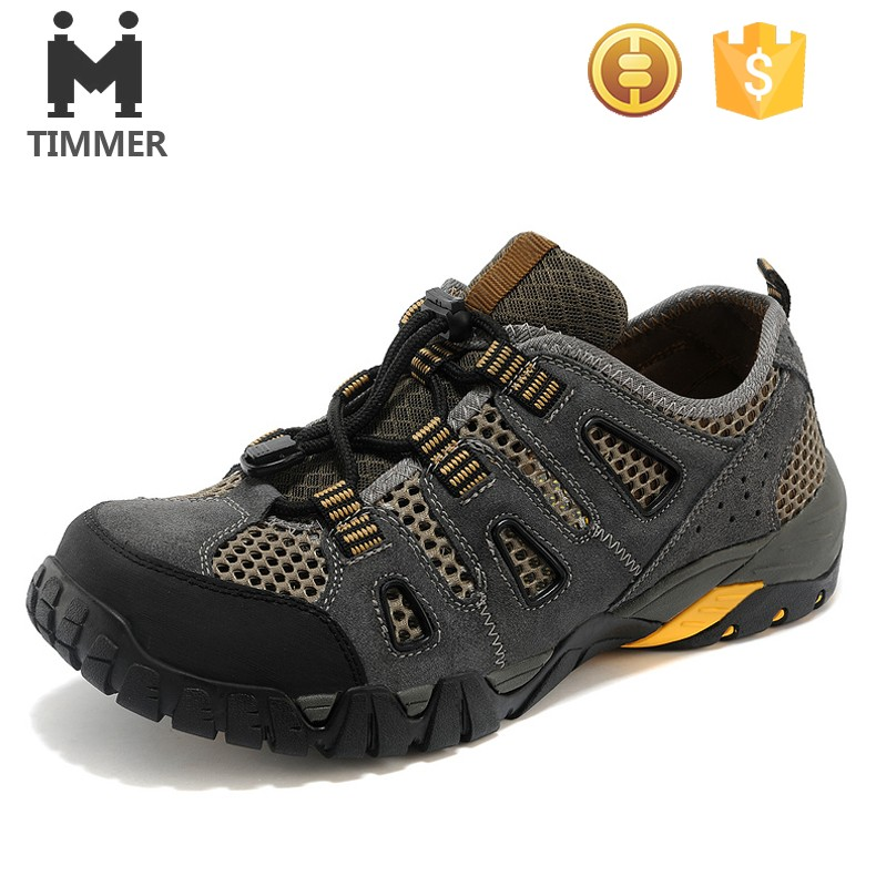 Fashion and breathable low cut waterproof outdoor hiking shoes /climbing boots
