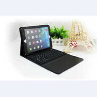 Leather Case Cover with USB Bluetooth Wireless Keyboard for Apple iPad 1 2 3 4 5,for iPad Air