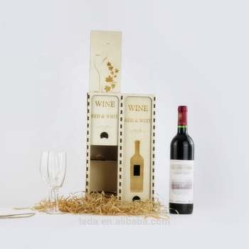 Performance double bottles wood packing box for wine