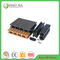Building material pvc plastics wpc hollow decking supplier