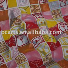 100% hand-painted oil painting theme bedding, quilts surface pattern.
