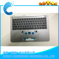 "Replacement Upper Case For Macbook Pro Retina 13"" A1706  Year 2016 2017 Topcase with Keyboard US Layout Gray color"