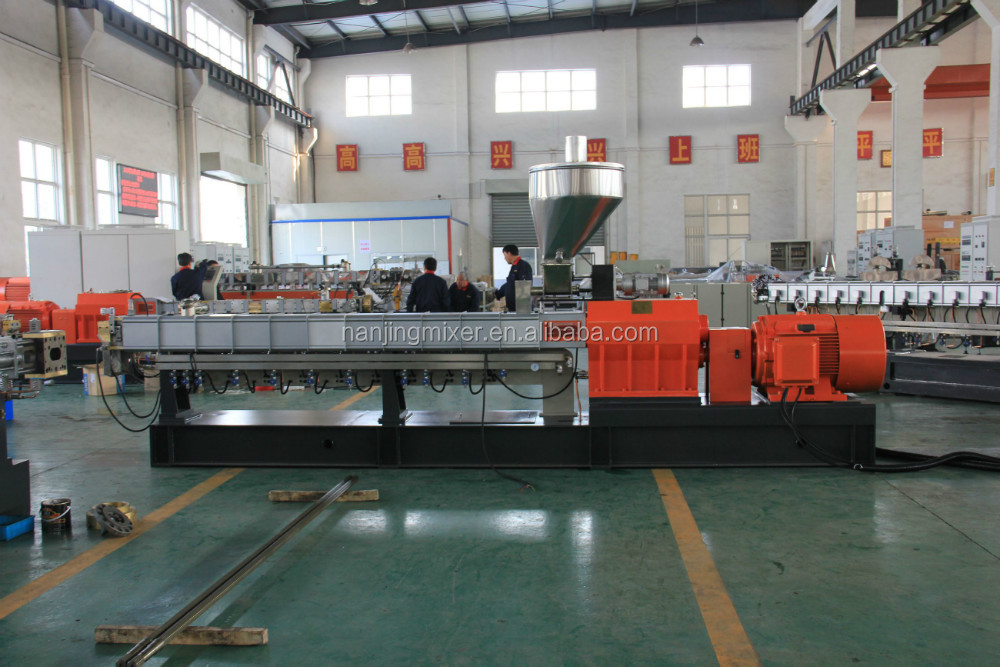 nanjing mixer twin screw extruder machine/double extruder/twin screw compound extruder