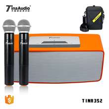 Best portable rechargeable hifi audio tube amplifier wireless microphone karaoke mic speaker built in amplifier with usb port