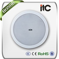 "ITC T-104 Favorable 0.75 Watt to 6 Watt 4"" Spring Clip Ceiling Loudspeaker for PA System"