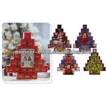 Christmas decoration plastic advent calendar with paper drawers