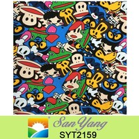 factory price polyester cotton fabric Whole Cloth Cartoon Images Printed Canvas Bags